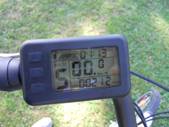 Panneau de commande pour vélo électrique