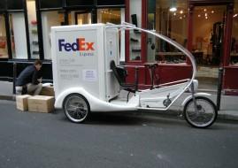 FedEx - livraison - tricycle électrique - paris