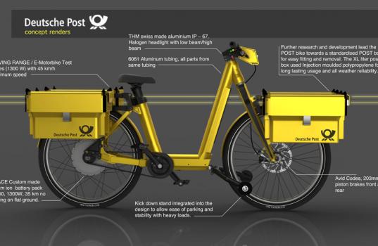 Vélo électrique du service postal allemand