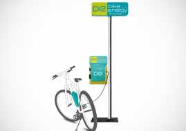 Station de chargement de vélos électriques