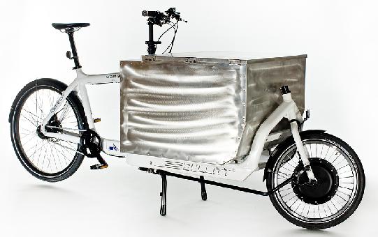 vélo cargo biporteur électrique