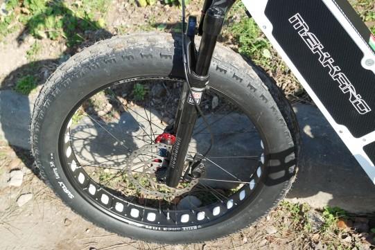 fourche fat bike électrique