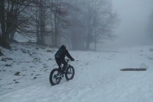essai sur neige fat bike électrique